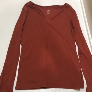 Rust red long sleeve